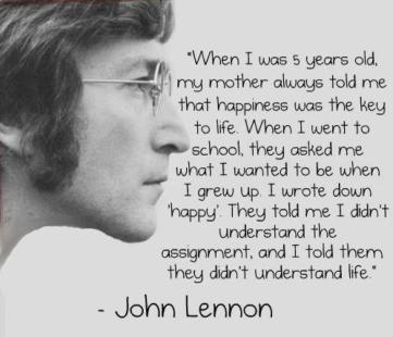 john lennon happines